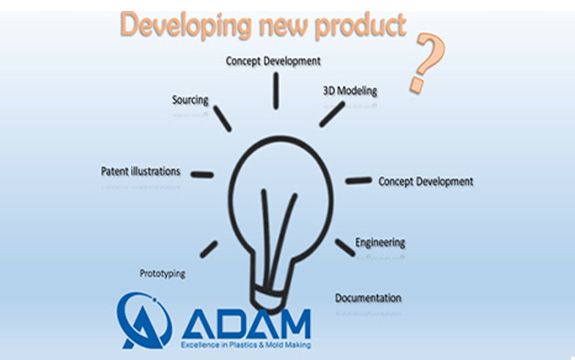 The phases of process for developing a new product